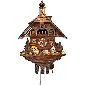 Chalet Cuckoo Clocks Cuckoo Clock 8-day-movement Chalet-Style 62cm by August Schwer