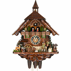 Chalet Cuckoo Clocks Cuckoo Clock 8-day-movement Chalet-Style 62cm by Hönes
