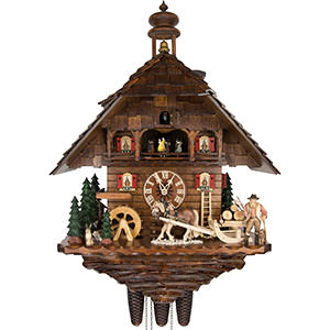 Chalet Cuckoo Clocks Cuckoo Clock 8-day-movement Chalet-Style 68cm by August Schwer