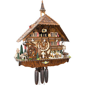 Chalet Cuckoo Clocks Cuckoo Clock 8-day-movement Chalet-Style 70cm by August Schwer
