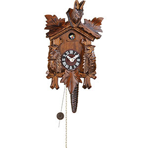 Black Forest Souvenir Clocks & Weather Houses Cuckoo Clock Chain-pull-movement -Style 25cm by Trenkle Uhren