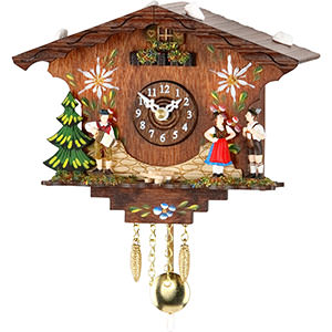 Black Forest Souvenir Clocks & Weather Houses Cuckoo Clock Kuckulino Quartz-movement Black Forest Pendulum Clock-Style 13cm by Trenkle Uhren