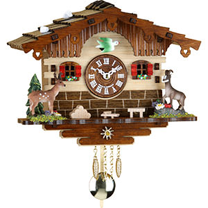 Black Forest Souvenir Clocks & Weather Houses Cuckoo Clock Kuckulino Quartz-movement Black Forest Pendulum Clock-Style 16cm by Trenkle Uhren