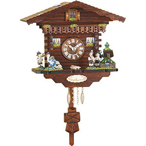 Black Forest Souvenir Clocks & Weather Houses Cuckoo Clock Kuckulino Quartz-movement Black Forest Pendulum Clock-Style 17cm by Trenkle Uhren