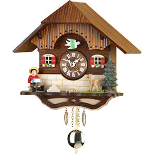 Black Forest Souvenir Clocks & Weather Houses Cuckoo Clock Kuckulino Quartz-movement Black Forest Pendulum Clock-Style 19cm by Trenkle Uhren