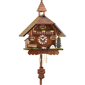 Black Forest Souvenir Clocks & Weather Houses Cuckoo Clock Kuckulino Quartz-movement Black Forest Pendulum Clock-Style 22cm by Trenkle Uhren