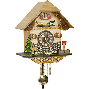 Black Forest Souvenir Clocks & Weather Houses Cuckoo Clock Quartz-movement Black Forest Pendulum Clock-Style 18cm by Trenkle Uhren