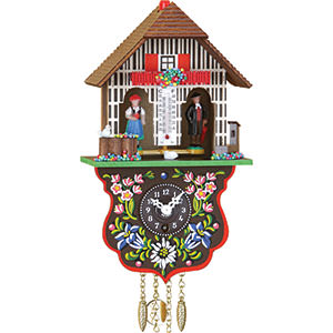 Black Forest Souvenir Clocks & Weather Houses Cuckoo Clock Quartz-movement Black Forest Pendulum Clock-Style 21cm by Trenkle Uhren