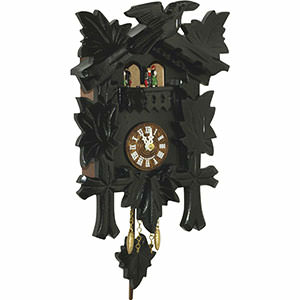 Black Forest Souvenir Clocks & Weather Houses Cuckoo Clock Quartz-movement Black Forest Pendulum Clock-Style 24cm by Trenkle Uhren