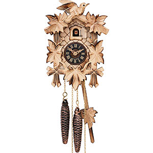 Novelties Cuckoo Clock Quartz-movement Carved-Style 22cm by Engstler