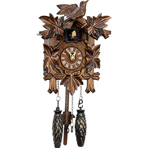 Carved Cuckoo Clocks Cuckoo Clock Quartz-movement Carved-Style 23cm by Anton Schneider