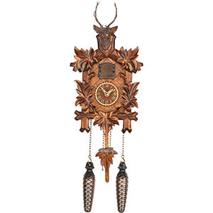 Carved Cuckoo Clocks Cuckoo Clock Quartz-movement Carved-Style 23cm by Trenkle Uhren