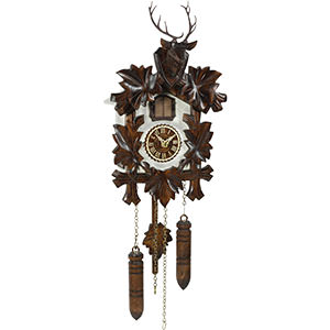 Carved Cuckoo Clocks Cuckoo Clock Quartz-movement Carved-Style 24cm by Trenkle Uhren