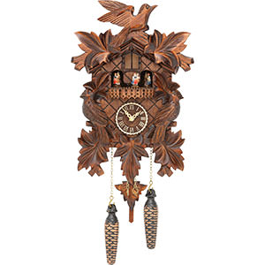 Carved Cuckoo Clocks Cuckoo Clock Quartz-movement Carved-Style 35cm by Trenkle Uhren