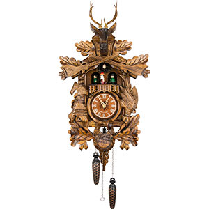 Carved Cuckoo Clocks Cuckoo Clock Quartz-movement Carved-Style 37cm by Engstler