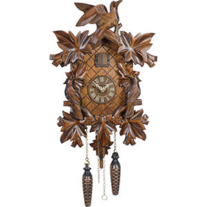 Carved Cuckoo Clocks Cuckoo Clock Quartz-movement Carved-Style 38cm by Trenkle Uhren