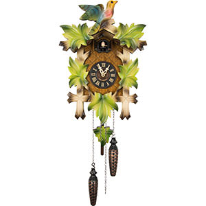 Carved Cuckoo Clocks Cuckoo Clock Quartz-movement Carved-Style 40cm by Engstler