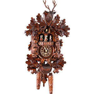 Carved Cuckoo Clocks Cuckoo Clock Quartz-movement Carved-Style 42cm by Trenkle Uhren