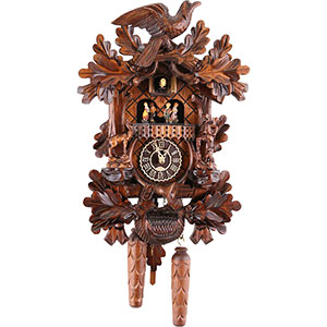 Carved Cuckoo Clocks Cuckoo Clock Quartz-movement Carved-Style 44cm by Trenkle Uhren