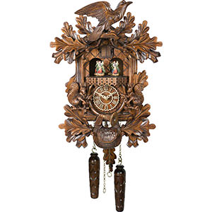 Novelties Cuckoo Clock Quartz-movement Carved-Style 44cm by Trenkle Uhren
