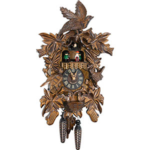 Carved Cuckoo Clocks Cuckoo Clock Quartz-movement Carved-Style 45cm by Engstler