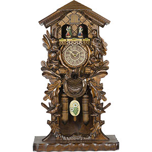 Novelties Cuckoo Clock Quartz-movement Carved-Style 53cm by Trenkle Uhren
