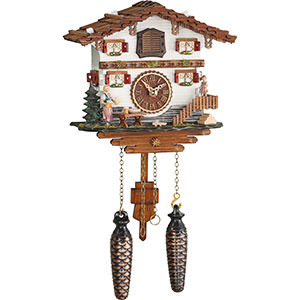 Chalet Cuckoo Clocks Cuckoo Clock Quartz-movement Chalet-Style 21cm by Trenkle Uhren