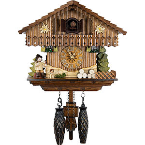 Chalet Cuckoo Clocks Cuckoo Clock Quartz-movement Chalet-Style 22cm by Cuckoo-Palace