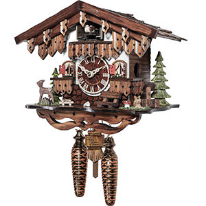 Chalet Cuckoo Clocks Cuckoo Clock Quartz-movement Chalet-Style 22cm by Engstler