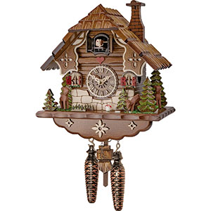 Chalet Cuckoo Clocks Cuckoo Clock Quartz-movement Chalet-Style 23cm by Engstler