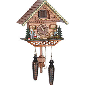 Chalet Cuckoo Clocks Cuckoo Clock Quartz-movement Chalet-Style 23cm by Trenkle Uhren