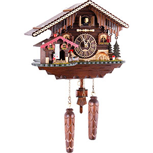 Chalet Cuckoo Clocks Cuckoo Clock Quartz-movement Chalet-Style 24cm by Trenkle Uhren