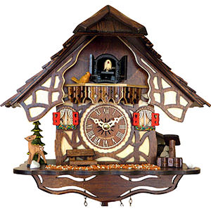 Chalet Cuckoo Clocks Cuckoo Clock Quartz-movement Chalet-Style 25cm by Engstler