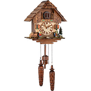 Chalet Cuckoo Clocks Cuckoo Clock Quartz-movement Chalet-Style 25cm by Trenkle Uhren