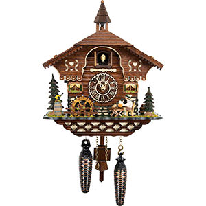 Chalet Cuckoo Clocks Cuckoo Clock Quartz-movement Chalet-Style 27cm by Cuckoo-Palace
