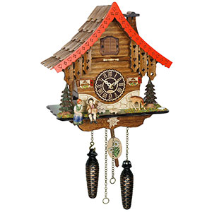 Chalet Cuckoo Clocks Cuckoo Clock Quartz-movement Chalet-Style 27cm by Trenkle Uhren