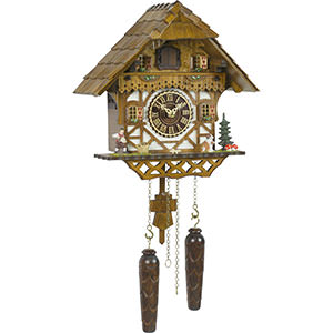 Chalet Cuckoo Clocks Cuckoo Clock Quartz-movement Chalet-Style 29cm by Trenkle Uhren
