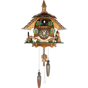Chalet Cuckoo Clocks Cuckoo Clock Quartz-movement Chalet-Style 31cm by Engstler