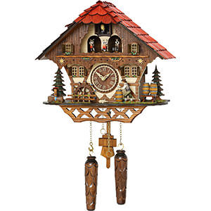 Chalet Cuckoo Clocks Cuckoo Clock Quartz-movement Chalet-Style 31cm by Trenkle Uhren