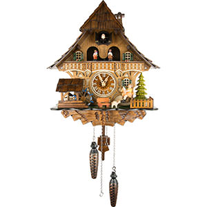 Chalet Cuckoo Clocks Cuckoo Clock Quartz-movement Chalet-Style 32cm by Engstler
