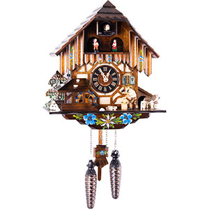 Chalet Cuckoo Clocks Cuckoo Clock Quartz-movement Chalet-Style 33cm by Engstler