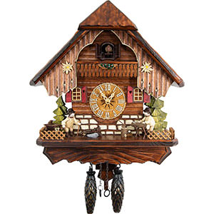 Chalet Cuckoo Clocks Cuckoo Clock Quartz-movement Chalet-Style 34cm by Cuckoo-Palace