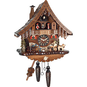 Chalet Cuckoo Clocks Cuckoo Clock Quartz-movement Chalet-Style 34cm by Engstler