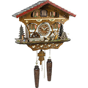 Chalet Cuckoo Clocks Cuckoo Clock Quartz-movement Chalet-Style 34cm by Trenkle Uhren
