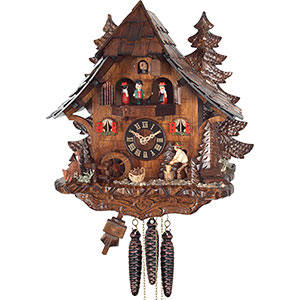 Chalet Cuckoo Clocks Cuckoo Clock Quartz-movement Chalet-Style 35cm by Engstler