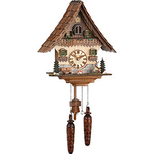 Chalet Cuckoo Clocks Cuckoo Clock Quartz-movement Chalet-Style 35cm by Trenkle Uhren
