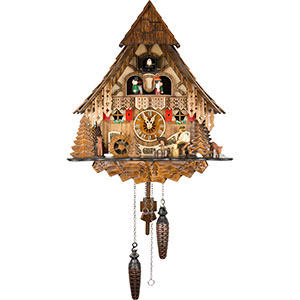 Chalet Cuckoo Clocks Cuckoo Clock Quartz-movement Chalet-Style 36cm by Engstler