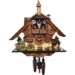 Chalet Cuckoo Clocks Cuckoo Clock Quartz-movement Chalet-Style 40cm by Engstler