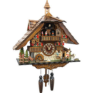 Chalet Cuckoo Clocks Cuckoo Clock Quartz-movement Chalet-Style 42cm by Cuckoo-Palace