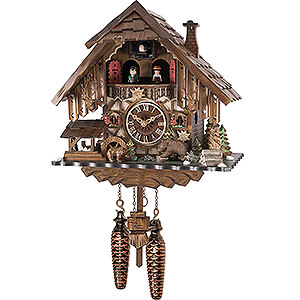 Chalet Cuckoo Clocks Cuckoo Clock Quartz-movement Chalet-Style 42cm by Engstler